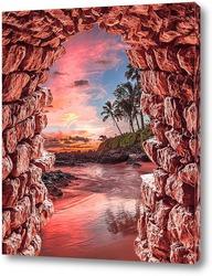Постер Морской закат