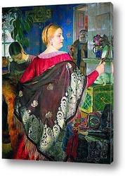 Картина Купчиха с зеркалом. 1920