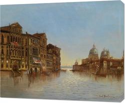 Постер Вид Венеции с Santa Maria della Salute.