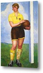Постер Футболистка блондинка
