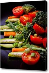 Постер Салат из свежих овощей ( вертикальный)
