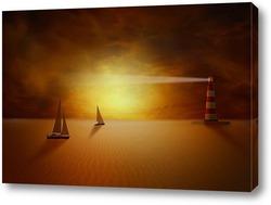 Постер Пустынная фантазия