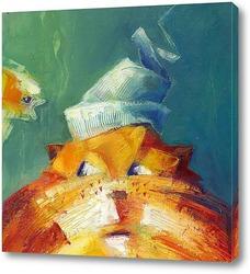 Картина портрет кота по кличке Ржавый