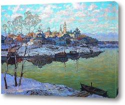Картина Город на реке