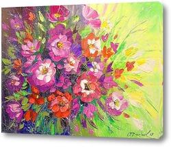 Постер Букет розовых цветов
