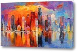 Картина Вечерний Нью-Йорк