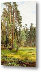 Картина Лесной пейзаж с поляной