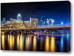 Постер Ночной Сингапур