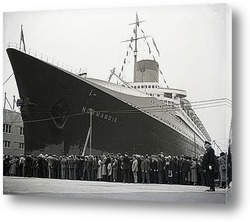 Эмигранты на корме парохода <Бремен>.