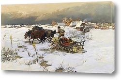 Картина Езда на санях
