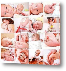 Постер Baby and pregnancy collage