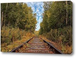Картина Железнодорожный путь на фоне неба