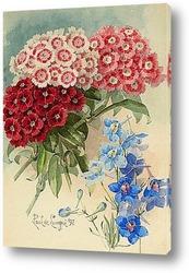 Натюрморт с розами и сиренью