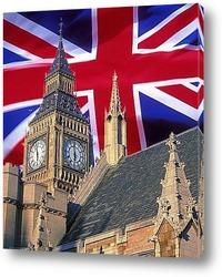 Панорама Лондона в коричневых тонах
