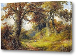 Autumnal Landscape With A Tree