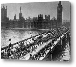 Постер Американские отряды на Вестмистернском мосту,1917