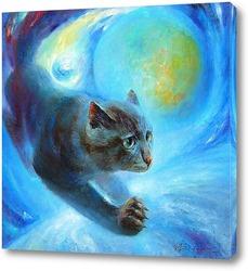Постер Лунный Кот