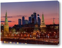 Постер Москва. Сити. Кремль