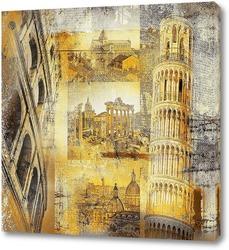 Постер Достопримечательности Италии