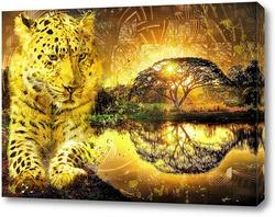 Леопард и закат