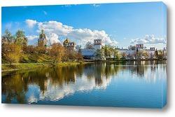 Постер Вид на Новодевичий монастырь