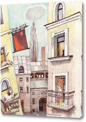 Картина Дом Кота