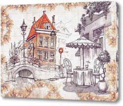 Постер Ресторанчик в Амстердаме