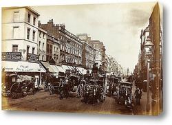 Постер Оксфордская улица, Лондон, 1880-1890
