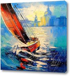 Картина Парусник на ветру