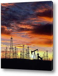 oil refinery and blue sky