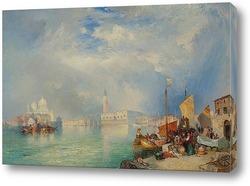 Восход луны, Кьодже, Венеция , 1897