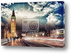 Лондон. Замечательный вид на Вестминстерский мост и Биг Бен