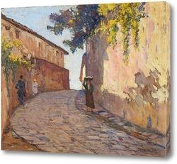 Картина Дорога с фигурами в Монтенеро