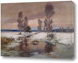 Постер Зимний ландшафт
