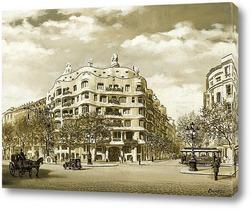 Картина Старая Барселона. Каса-Мила
