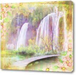Водопад и мостик