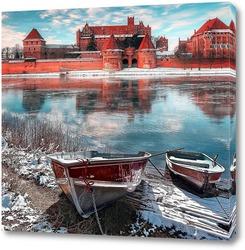 Постер Вид на Польский замок