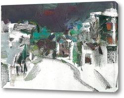 Картина зимний набросок