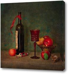 Постер С вином и яблокоми