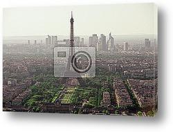 Винтажный вид Эйфелевой башни - Париж - Франция