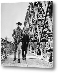 Постер Дастин Хофман и Йон Войт в <Полуночный ковбой>.1969г.