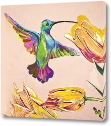 Картина Райская пташка. Колибри