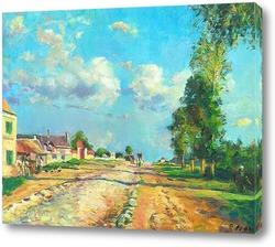 Картина Камиль Писарро Дорога на Версаль ( копия)