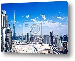 Постер Panoramic image of Dubai city