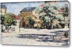 Картина Бургплац в замке в Веймаре
