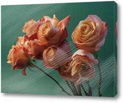 Постер Натюрморт из роз