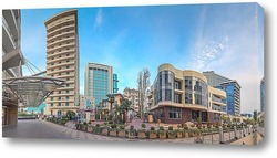 Постер Панорамный вид на архитектурные контрасты Сочи