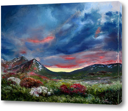 Картина Горный перевал