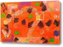 Постер Походка абстракция