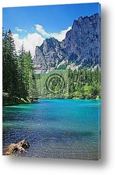 Mountains and turquoise lake-Gruener See,Styria,Austria